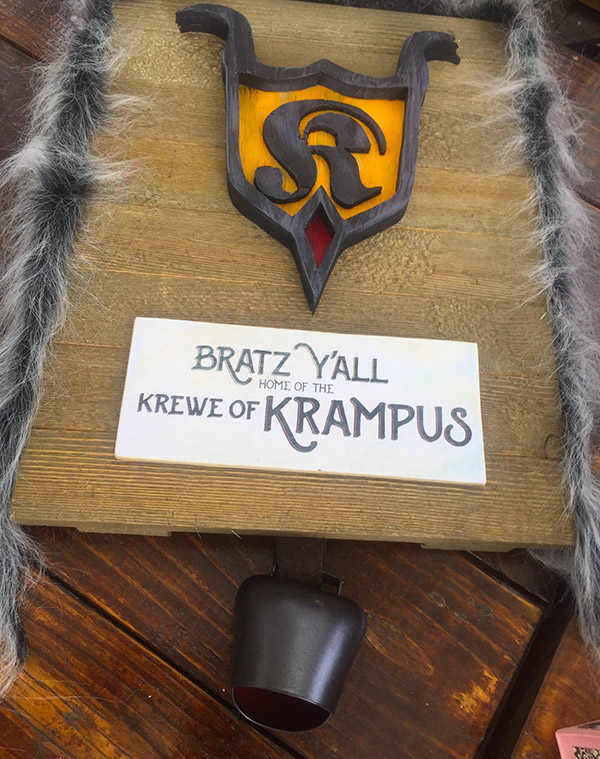 Krewe of Krampus Sign at Bratz Y'all